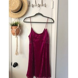 Free People velvet slip dress